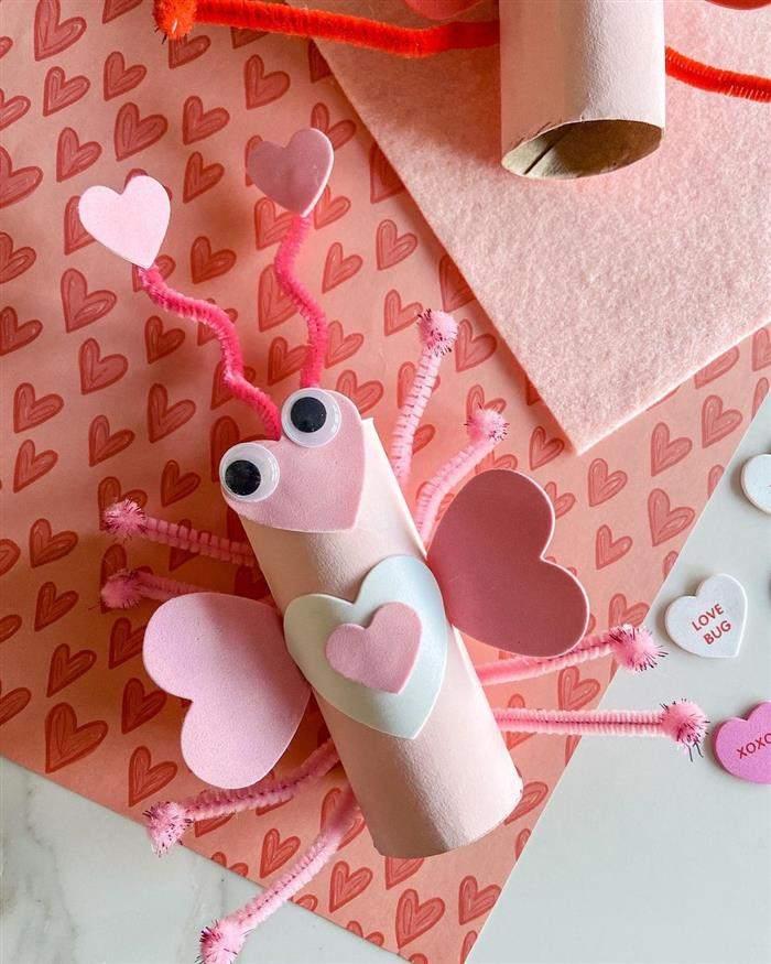 brinquedo simples de rolo de papel higienico