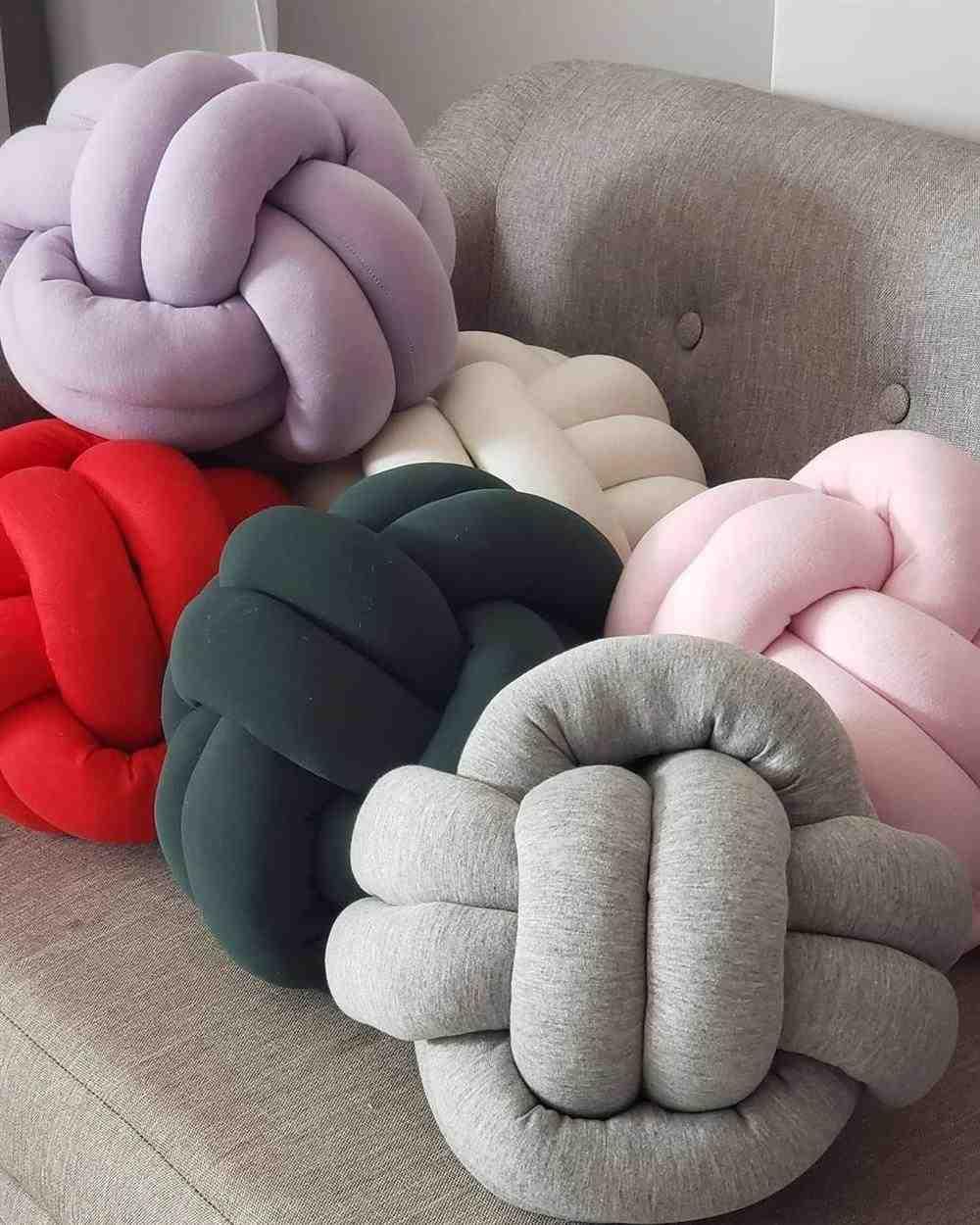 artesanato em casa almofadas de nó decorativas