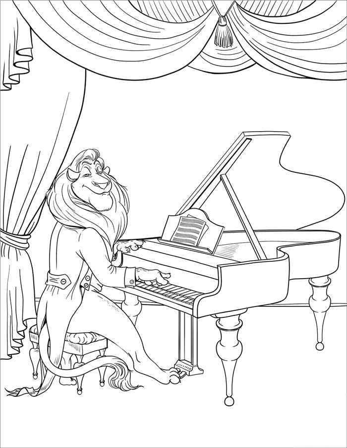 leao tocando piano