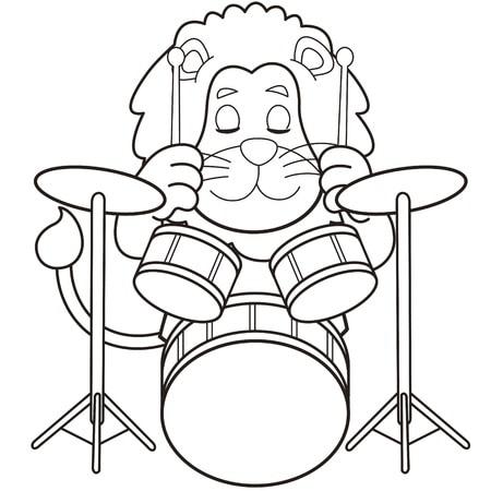 desenhos de instrumentos musicais para pintar
