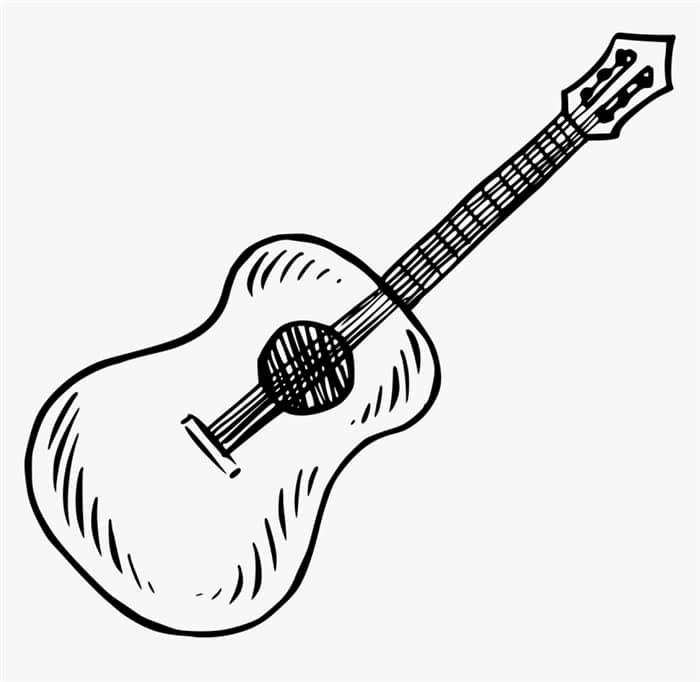 desenhos de instrumentos musicais de corda