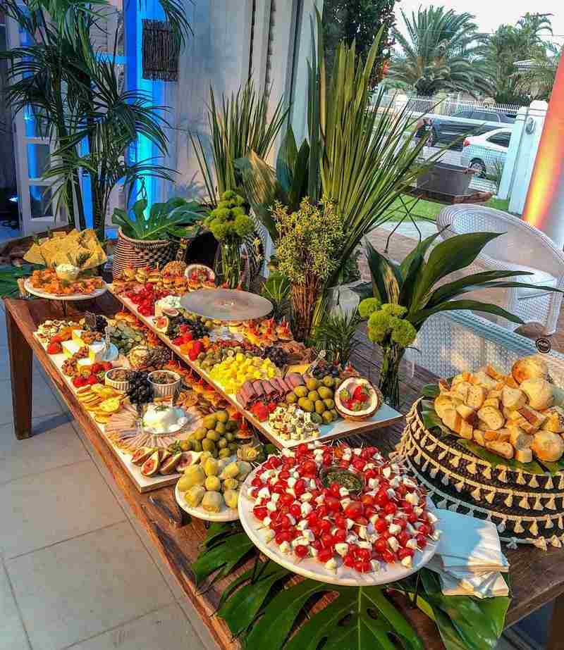 sofisticada de buffet