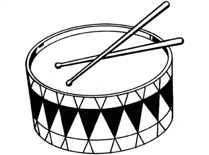 desenhos para pintar de instrumentos musicais