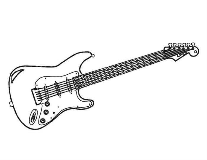 desenhos de instrumentos musicais guitarra