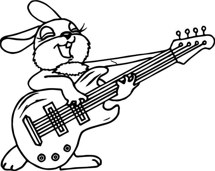 coelho com guitarra