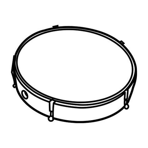 desenho de tamborim