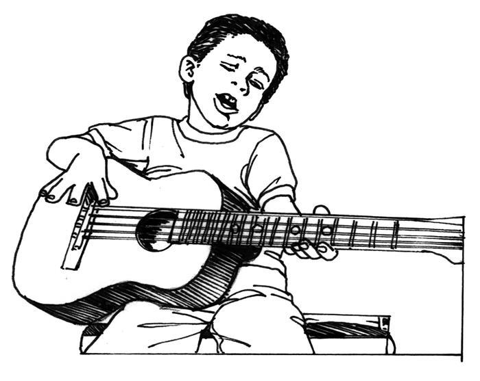 menino tocando violao
