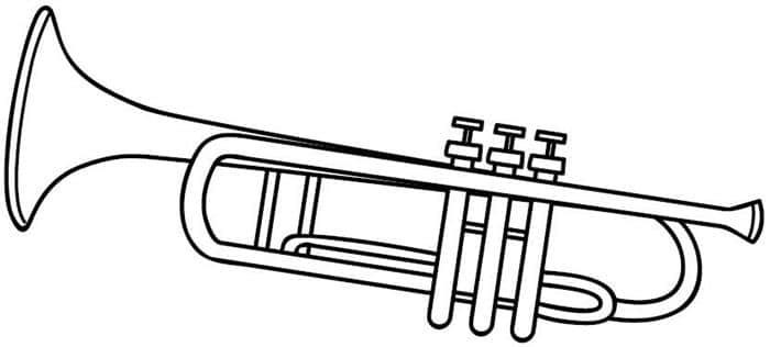 desenho de trompete