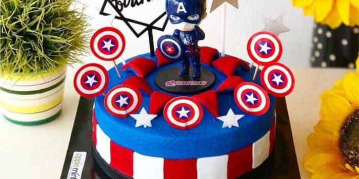 bolo do capião america simples