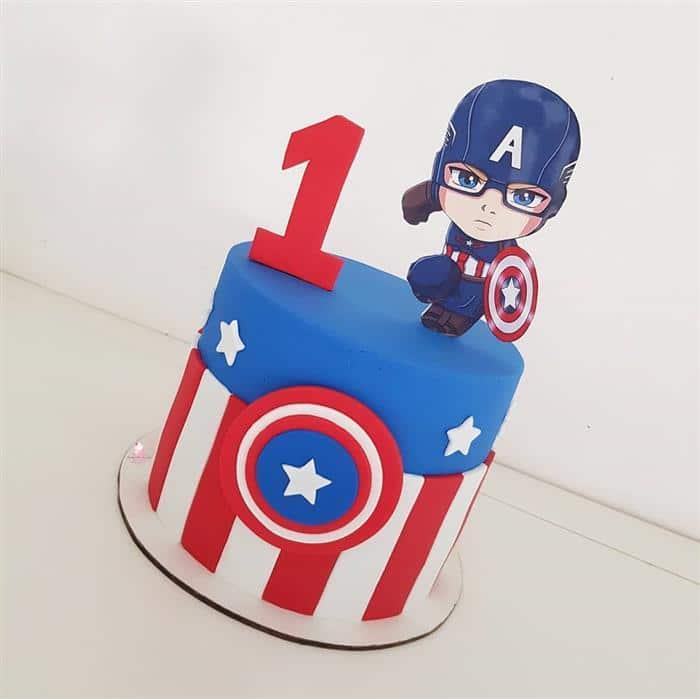 bolo de aniversario capitão america
