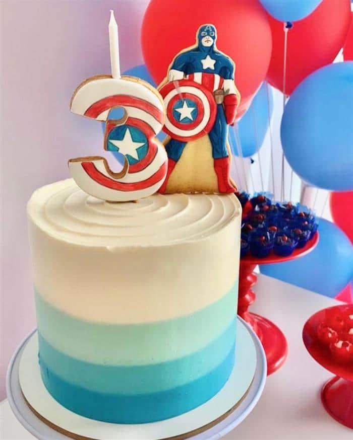 bolo de biscoito do capitão america