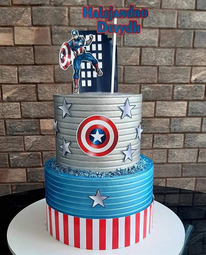 bolo de capitão america andares