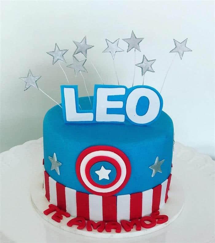 bolo de pasta do capitão america