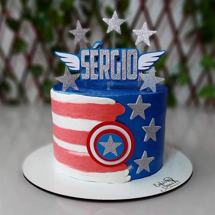 bolo divisão capitão america