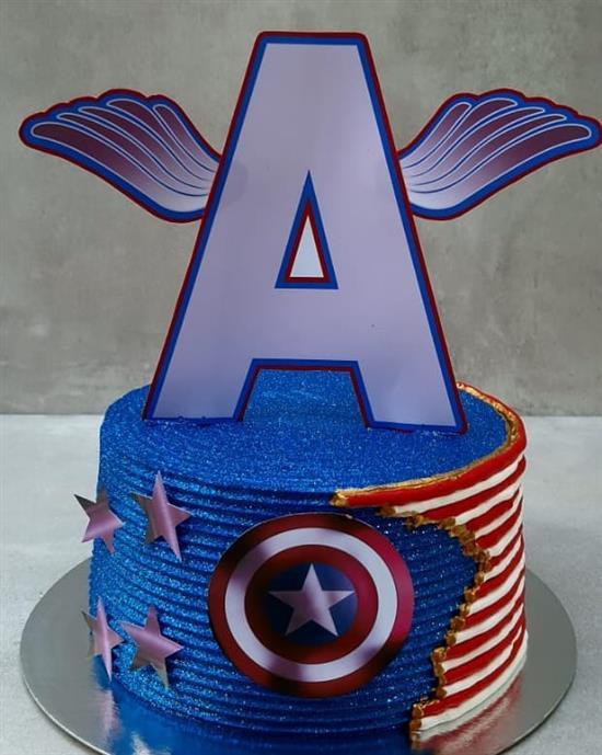 bolo do capitão américa de aniversário