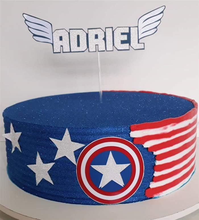 bolo redondo capitão america