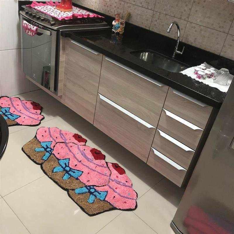 Tapetes de cozinha em forma de cupcake