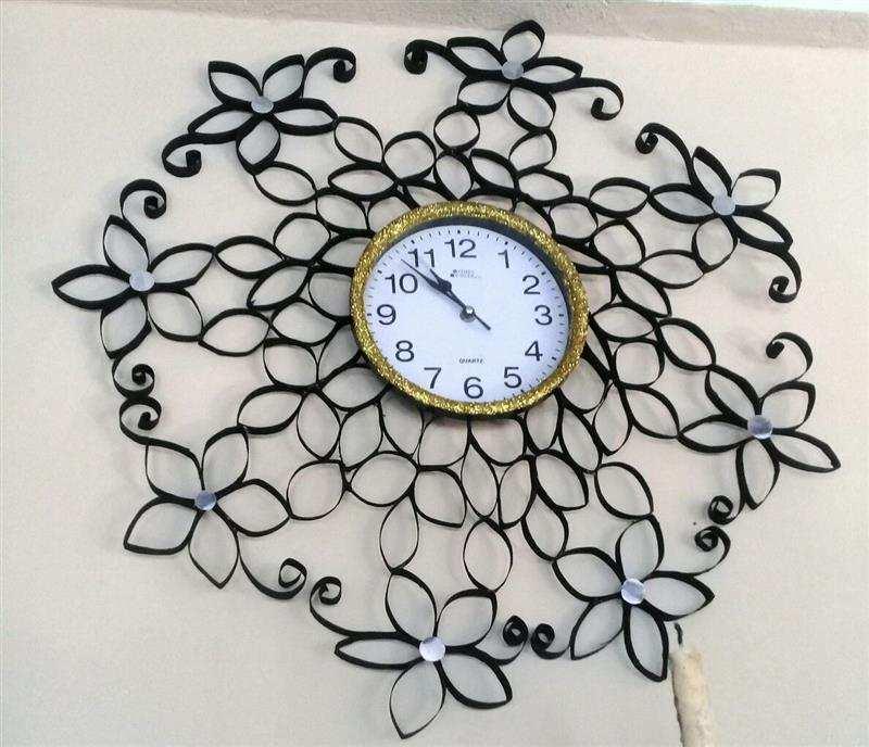 decoração em relógio de parede