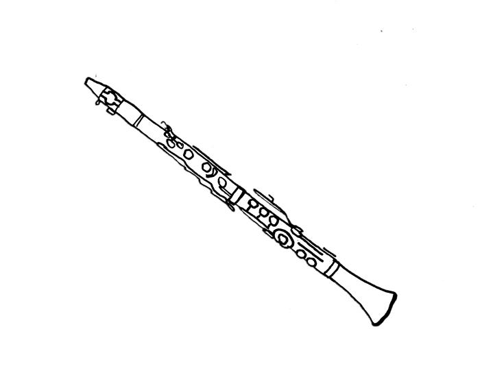 Clarinete para pintar