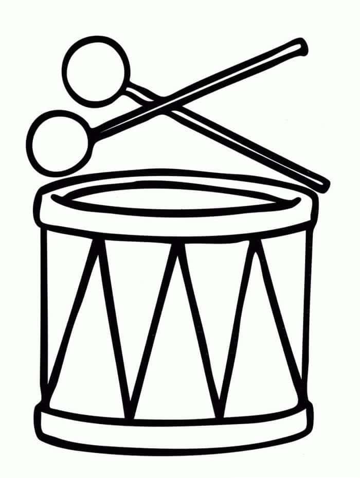 desenho de tambor