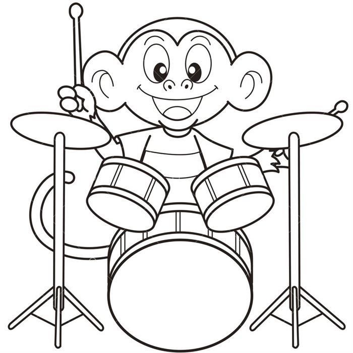 desenho instrumentos musicais infantil