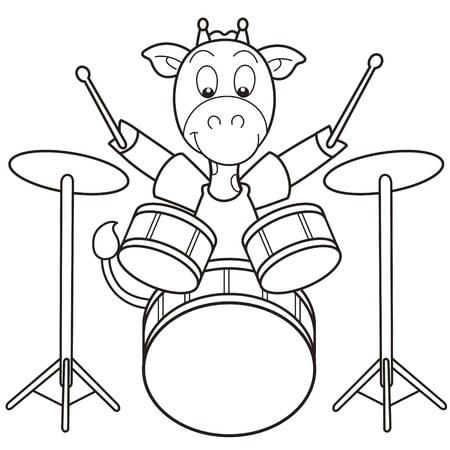 desenhos de animais tocando instrumentos musicais