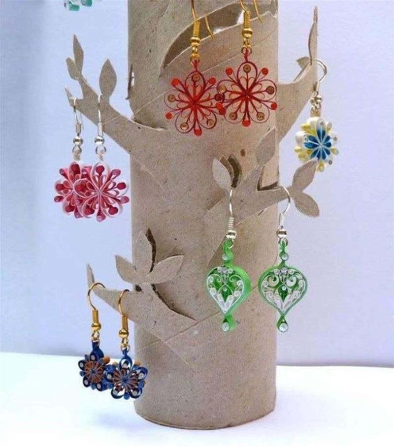 porta joias de rolo de papel