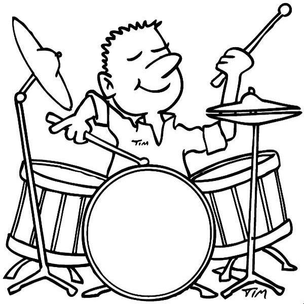 desenhar de instrumentos musicais