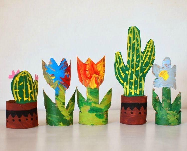 vasinhos de planta de rolo de papel higiênico