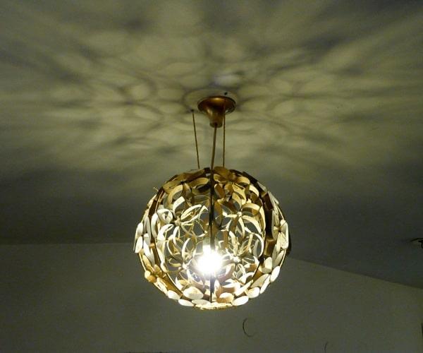 cúpula de luminária rustica