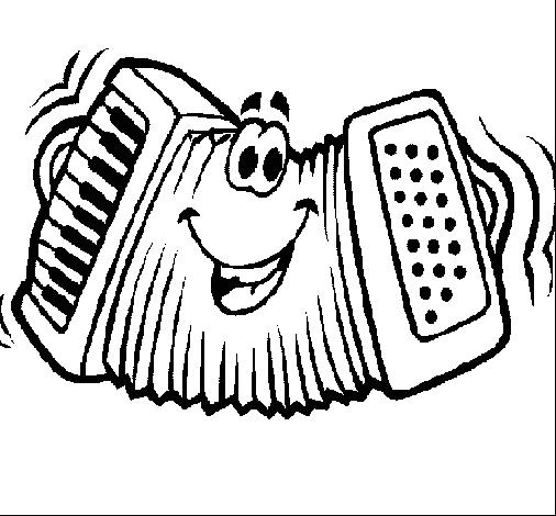 desenho de acordeão