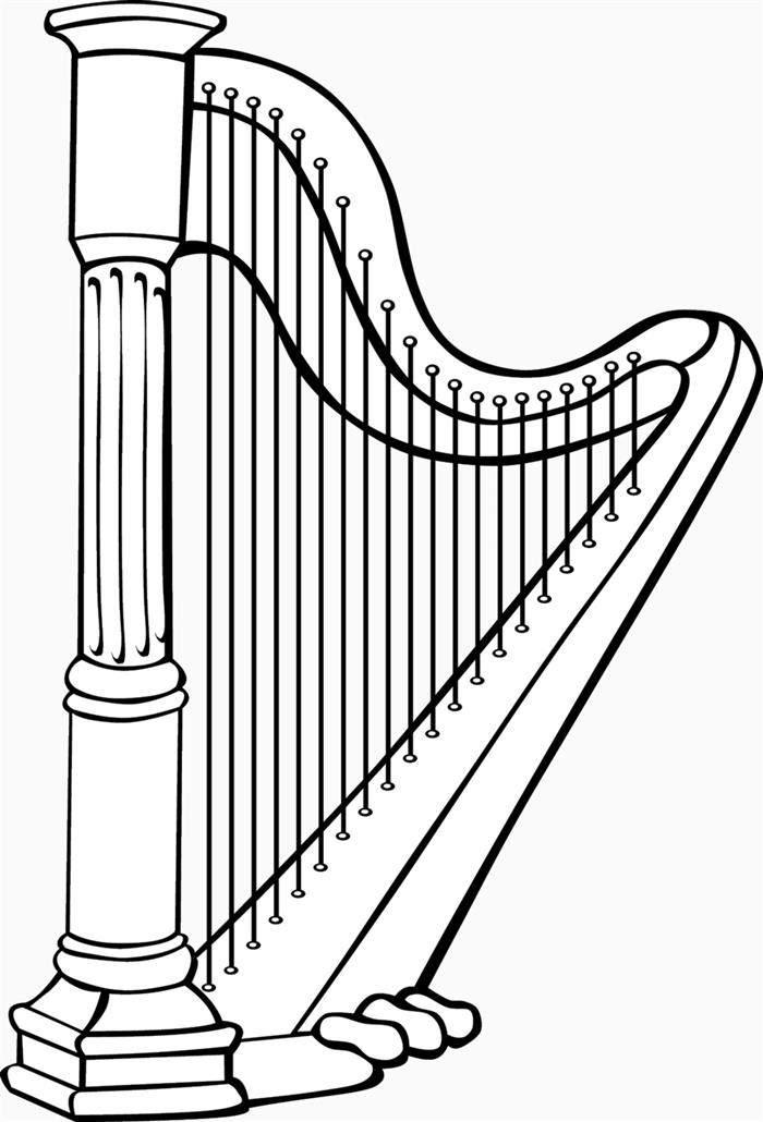 desenho de harpa