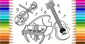 instrumentos para colorir