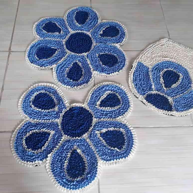 Jogo de tapete de flores