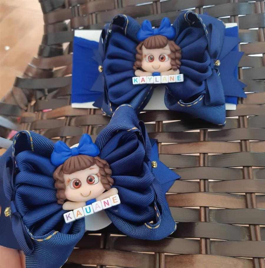 Faixas de cabelo para bebê azul