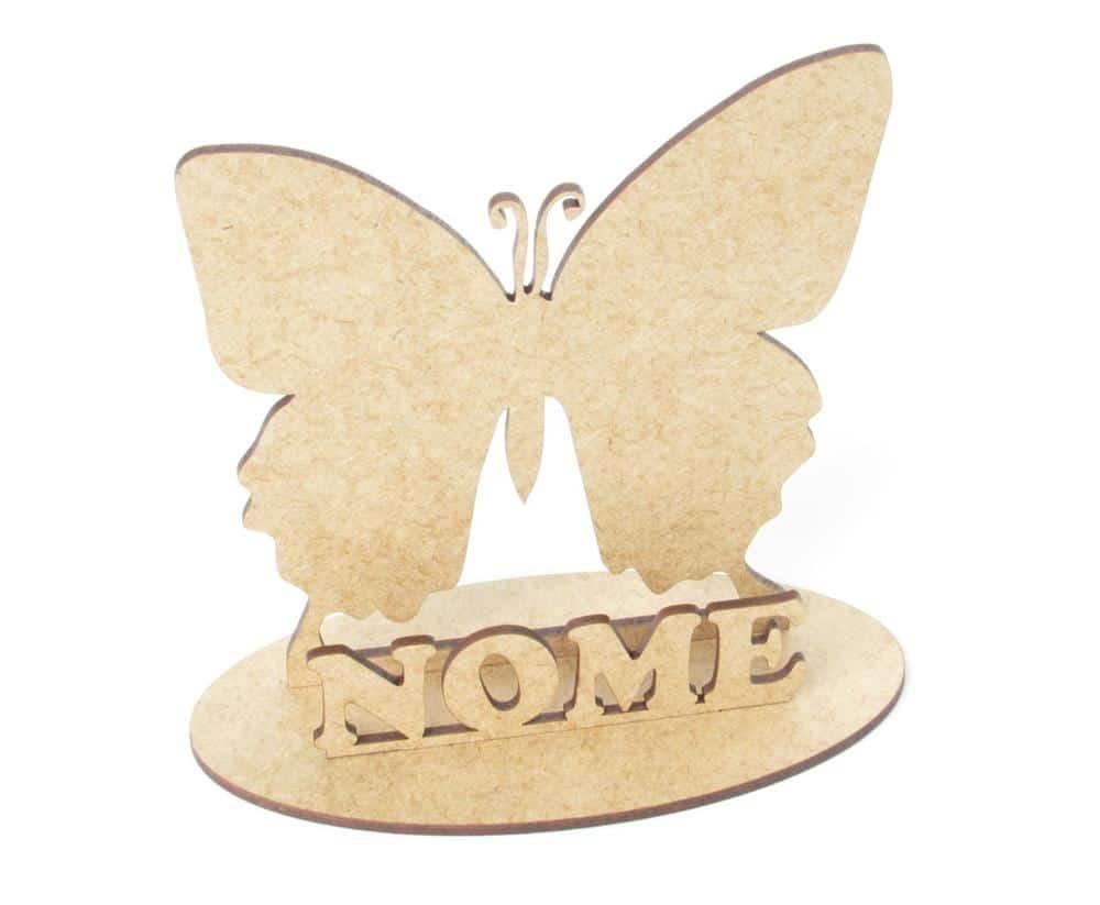Centro de mesa borboleta em MDF cru
