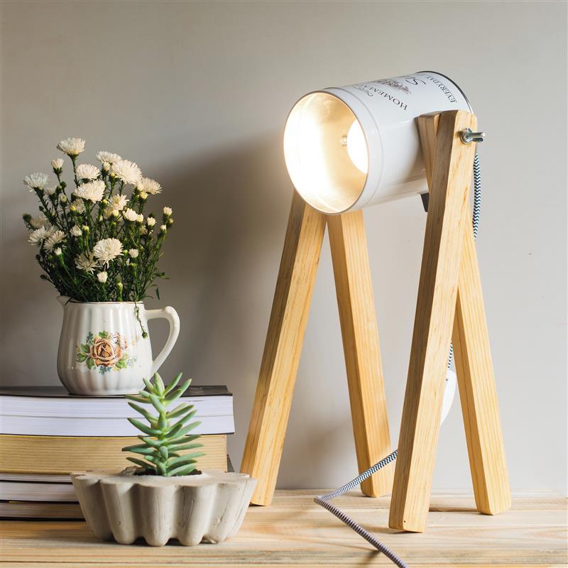 Luminária artesanal de mesa