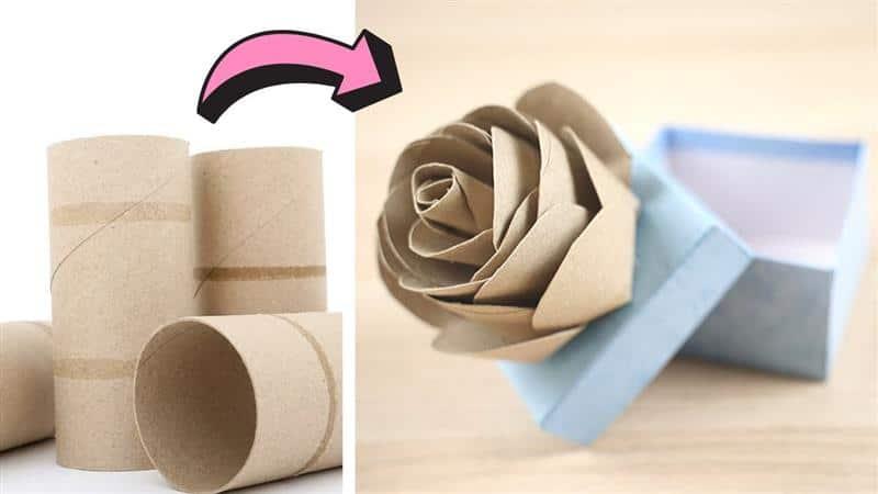 rosa de rolo de papel higiênico