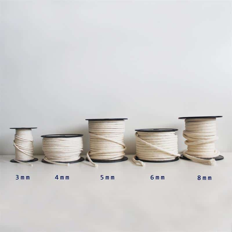 corda de algodão para artesanato crua
