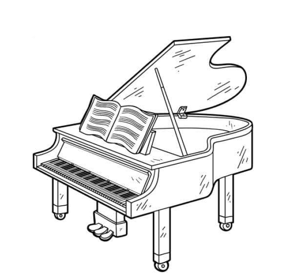 piano com partituras
