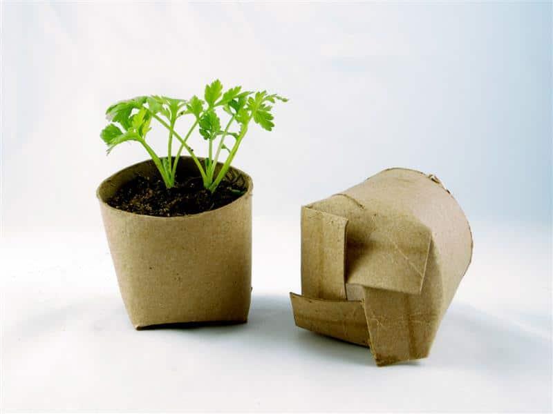 hortinha feita com material reciclado