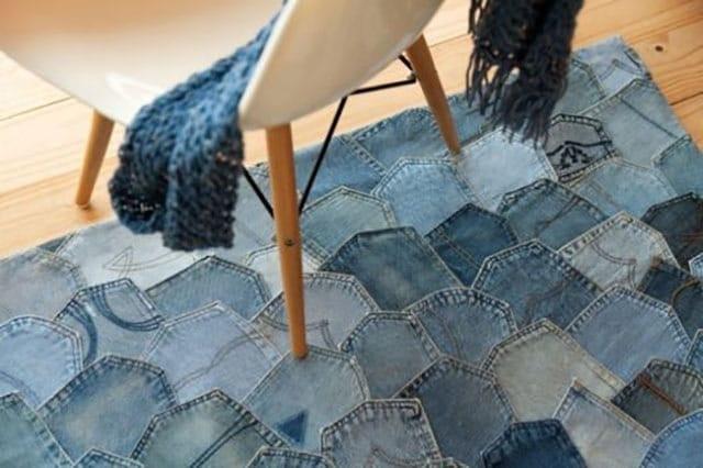 ideias de artesanato com jeans velho