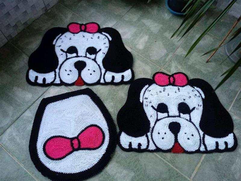em formato de cachorros