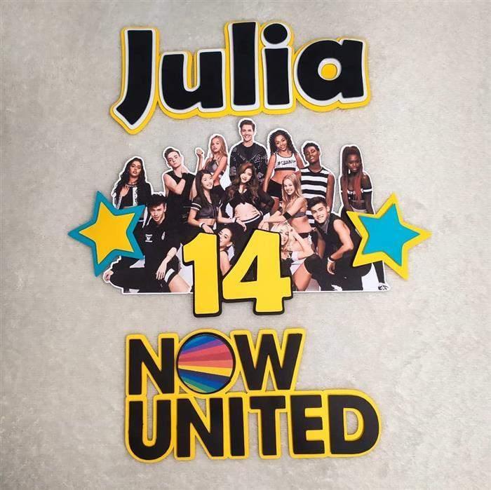 topo de bolo com fotos now united