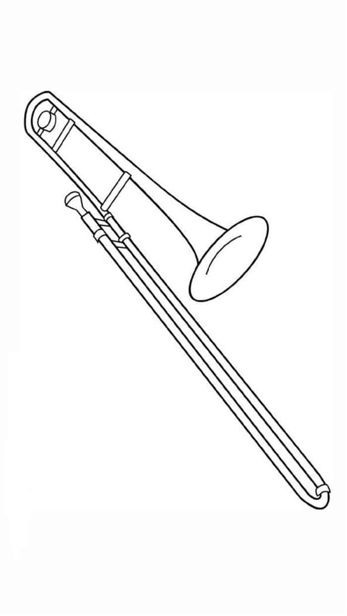 desenho de trombone