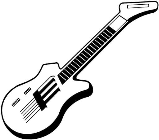 guitarra para colorir