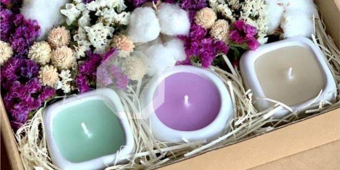 velas aromatizadas coloridas