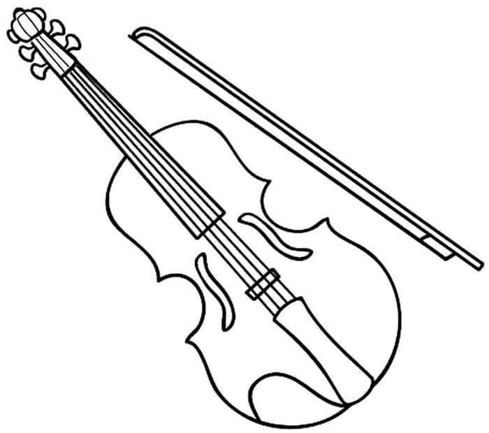 desenhos de instrumentos musicais de orquestra