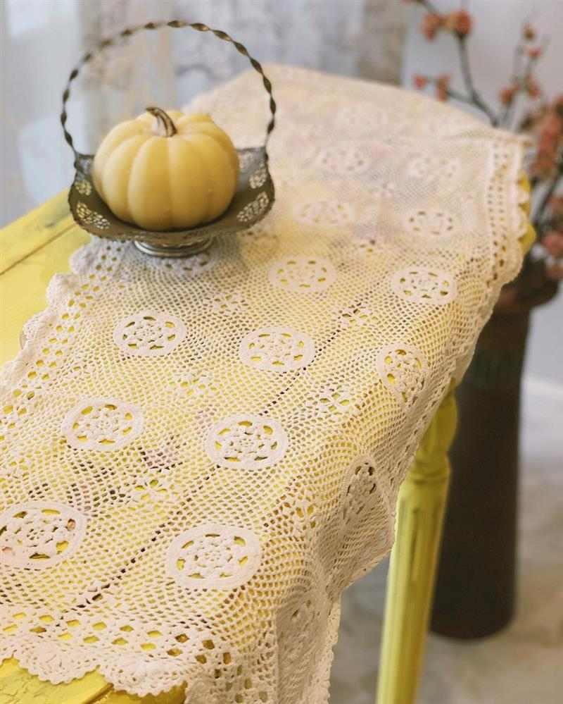 ideias de trilho de mesa em crochê