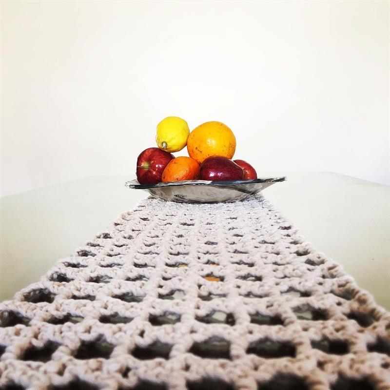 trilho de mesa em croche facil e economico